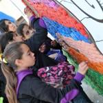 Mural en la Maratón de Tapitas de Radio Mitre.