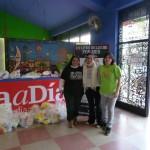 Jornada solidaria realizada con Día a Día a beneficio de la Fundación Un Litro de Leche por Mes.