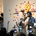 Inauguración junto a Liniers y Kevin Johansen  (Centro Cultural Borges, 2014).